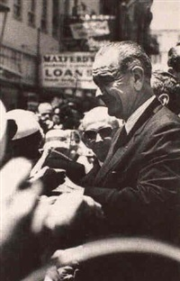 lyndon b. johnson campaigning by francis miller