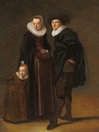 bildnis eines ehepaares mit seiner tochter by gerard van donck