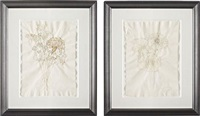 untitled (life flower ii) (+ untitled (life flower v); 2 works) by kiki smith