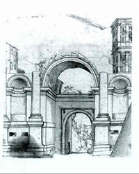 the arch of santo spirito, near the vatican by antonio da sangallo the younger