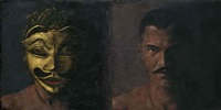 man unmasked (diptych) by ahmad zakii anwar