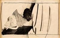 femme au chien by marie laurencin