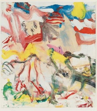 figures in landscape vi by willem de kooning
