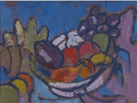 still life with fruit by gregoire johannes boonzaier