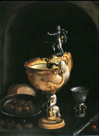 stilleben mit nautiluspokal by frans badens the elder