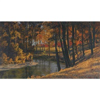winding stream, autumn by paul rodrik