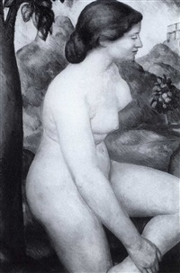 nude study by paul lafitte