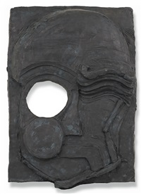 decorative panel ii (dream face) by thomas houseago