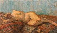 femme nue allongée by emile baes