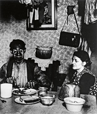 a northumbrian miner at his meal by bill brandt