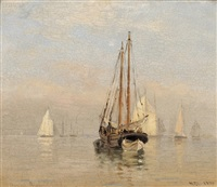 morning, portland harbor by walter franklin lansil