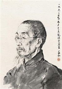 老先生 (portrait sketch) by jiang zhaohe
