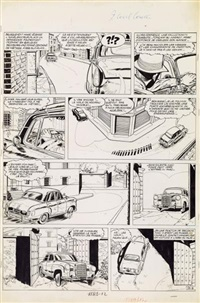 marc d'acier planche originale n°9 by jean-michel charlier and eddy paape