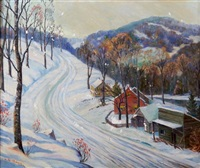 winter landscape by william john krullaars