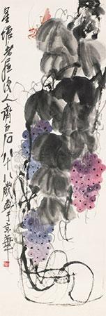 葡萄 by qi baishi