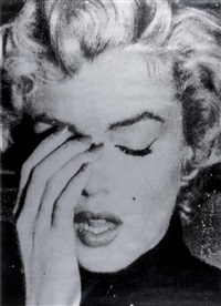 marilyn crying (black/silver) by russell young
