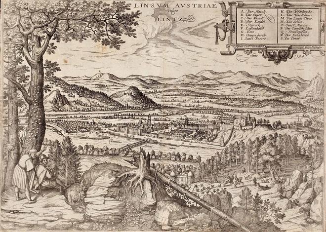 ansicht von linz from civitates orbis terrarum by lucas van valkenborch