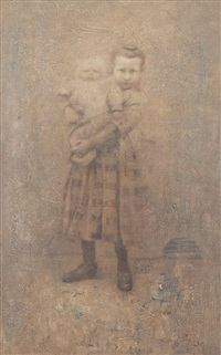 fillette et bebe by boris zaborov
