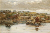 a harbor scene by william snodgrass bryce