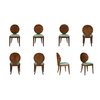 set of eight dining chairs by karl springer