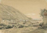ischia, blick über die dächer von gran sentinella zum hafen by juan grossgasteiger
