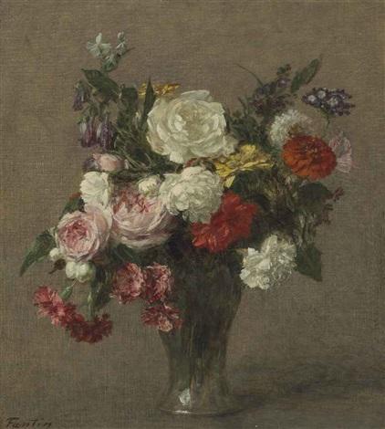 bouquet de fleurs by henri fantin latour