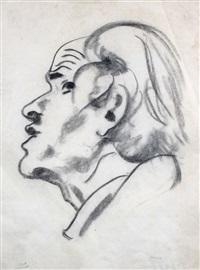 herrenportrait im profil nach links by karl lohse