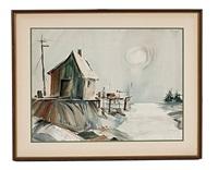 harbor scene by ralph rapien
