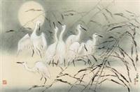 白鹭图 (egret) by lin hukui