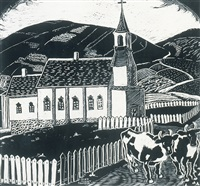 quebec farm (+ st. blessed, quebec; 2 works) by rody kenny courtice