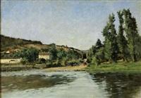 landscape by jules amédée louis fleury