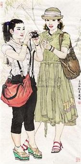 两个女孩 by sang jianguo