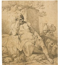 caius marius seated amongst the ruins of carthage by john hamilton mortimer