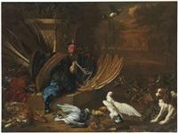 still life of dead game with birds by dirk valkenburg