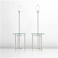 floor lamps with integrated table (pair) by laurel lamp (co.)