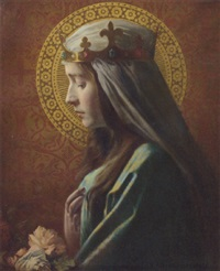 a crowned madonna by hermann albrecht-servesta