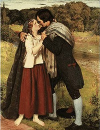 the betrothal of robert burns and highland mary by james archer