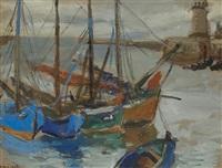 les bateaux au port by mané-katz
