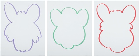 fun set of 3 by jeff koons