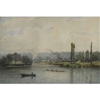 a view on le port marly by johan conrad greive