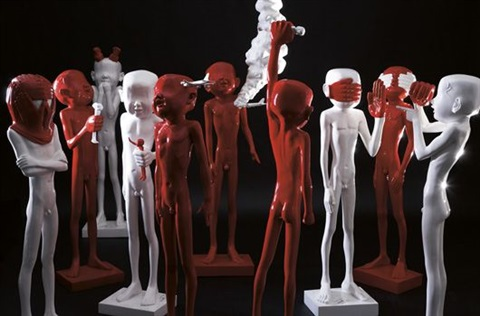 red hand (set of 10) by liu bolin