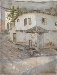 armenian village, street scene by graer arakelyan
