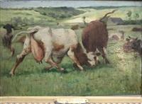 vaches aux prés by julien dupré