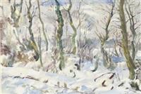 a snowy winter landscape by erasmus bernhard van dulmen krumpelman