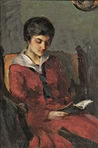 girl reading by charles hovey pepper