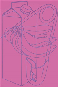 untitled (magenta/purple) by michael craig-martin