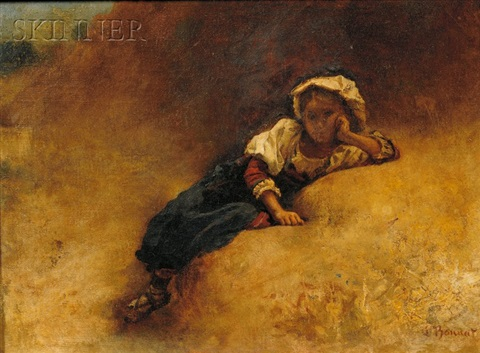 young girl at rest by léon joseph florentin bonnat
