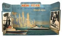 diorama le havre-southampton new york, cie gle transatlantique by jean des gaschons