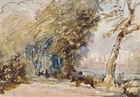 the path by the river by david cox the elder