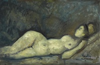 reclining female figure by nardi